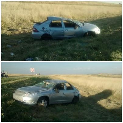 Ruta Nacional 33: accidente con cinco jovenes ilesos tras un fuerte vuelco