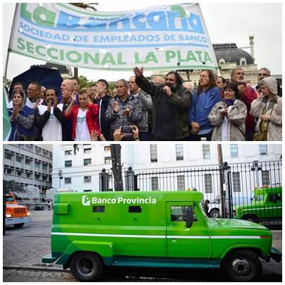 """""""Feriado bancario forzozo"""": tercer dia de paro en el BAPRO éste miércoles en rechazo a la ley sancionada"""