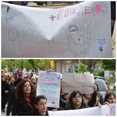 #Ni una menos: Movilizacion contra la violencia de género en Pigüé