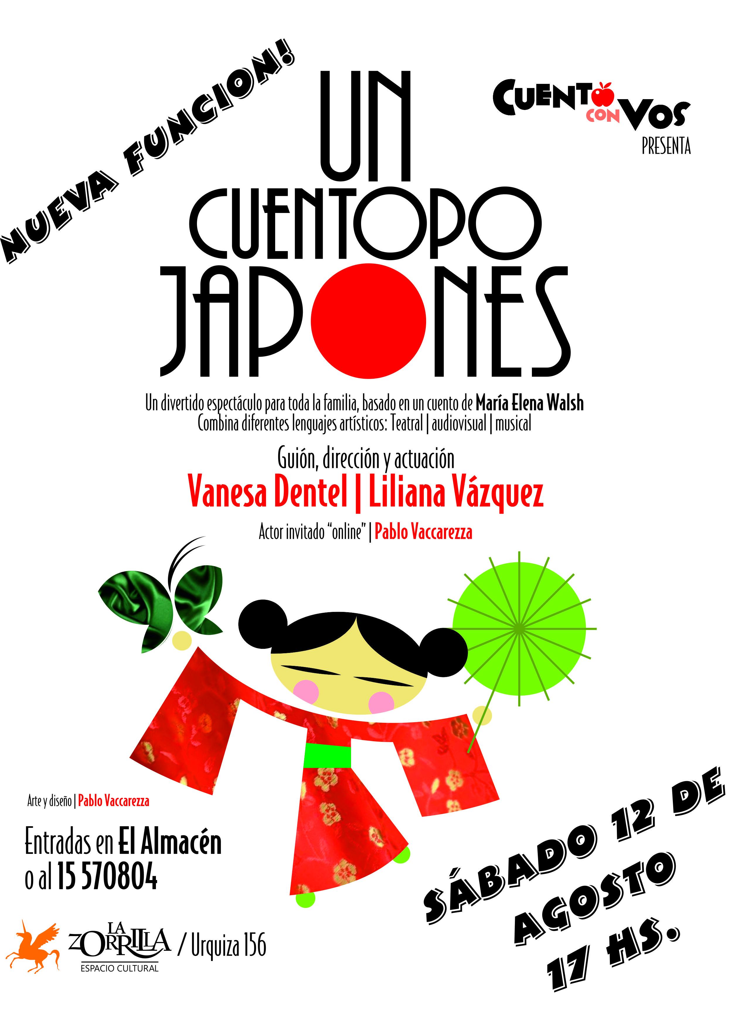 Nueva función infantil-familiar de UN CUENTOPO JAPONÉS, en La Zorrilla