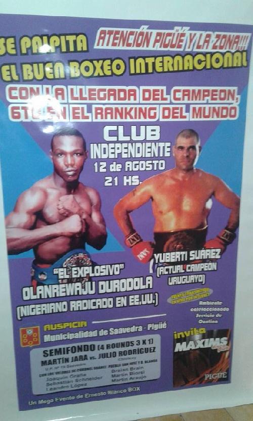 Boxeo Internacional - Mañana viernes jornada boxística en el Club Independiente de nuestra ciudad.