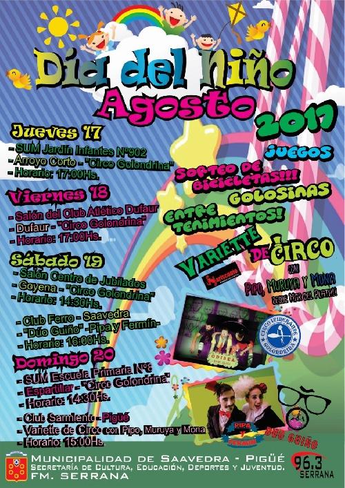 Dia del Niño organizado por la Municipalidad en la ciudad y las localidades del Distrito