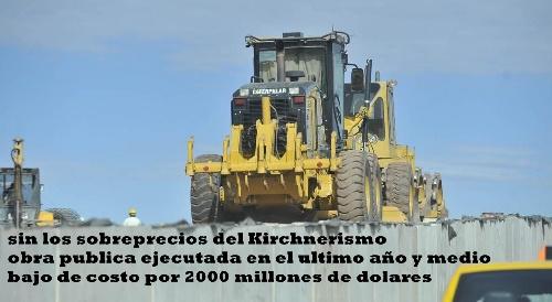 Sin sobreprecios: 2000 millones de dolares menos de costo en obra pública