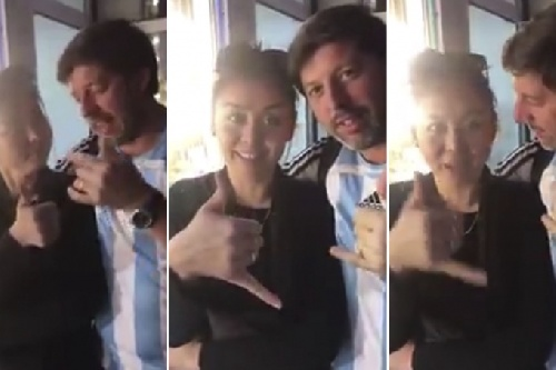 Más verguenza:Otro argentino ( bahiense ) hizo decir guarangadas en un video a una mujer que no habla español