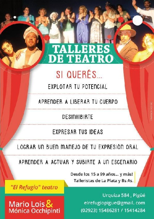 El Refugio invita a sus talleres de teatro