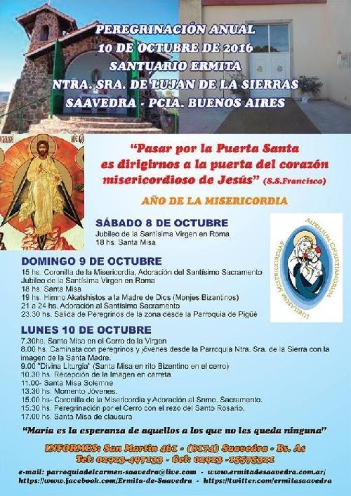 Peregrinacion anual al Santuario de la Ermita de Ntra. Sra. de Lujuan de la Sierra de Saavedra