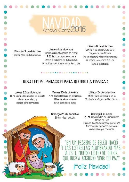 Celebraciones de Navidad y año Nuevo en Arroyo Corto