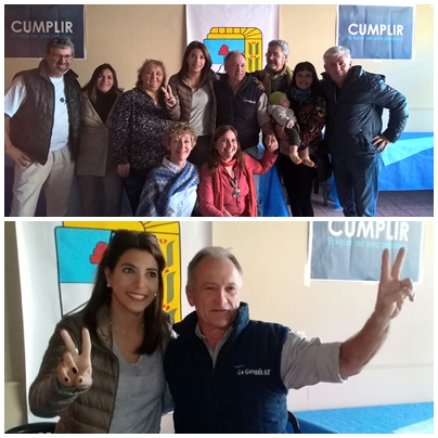 "Frente Justicialista ""Cumplir"" visitó Textiles con Casamiquela y Diachiara"