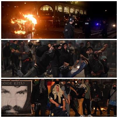 Violencia con heridos y destrozos tras la marcha por Santiago Maldonado en CABA
