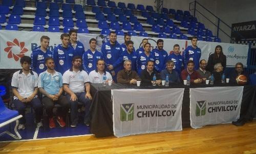 Basquet Federal - Di Pietro hizo su presentación en sociedad con Racing de Chivilcoy  para el torneo que se avecina.