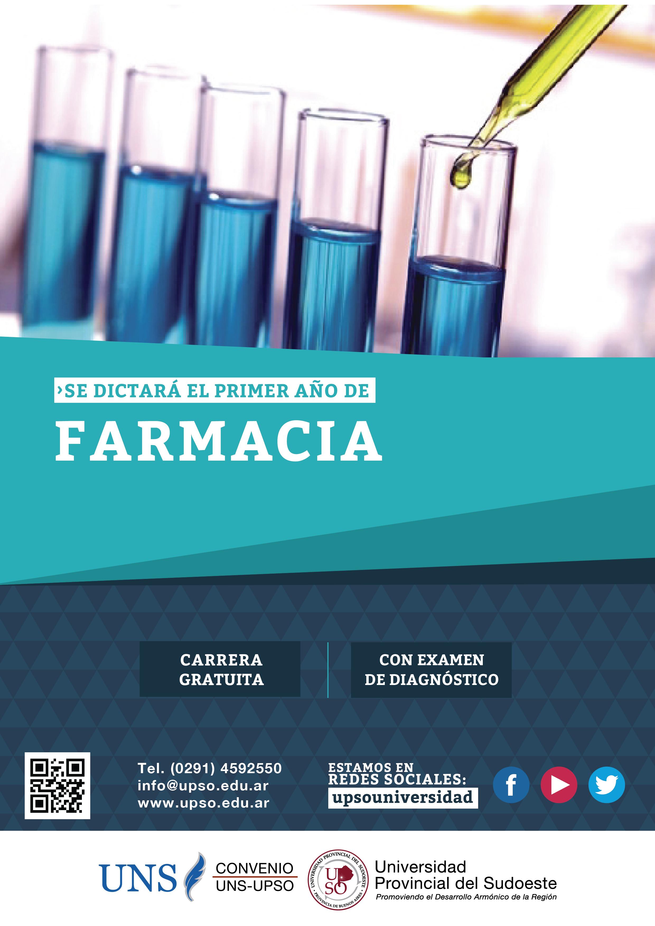 UPSO PIGÜÉ: Inician el jueves (3-11-16) los cursos de apoyo y consulta para los interesados en ingresar a la carrera de Farmacia