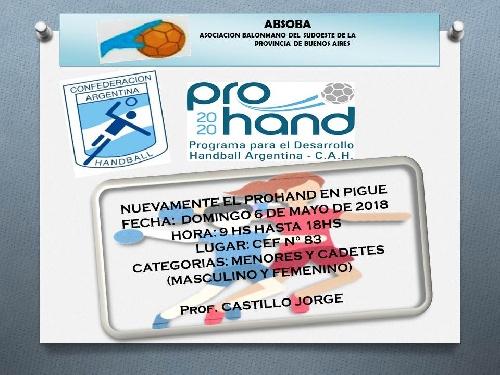 Handball : Programa de Capacitación  en nuestra ciudad.