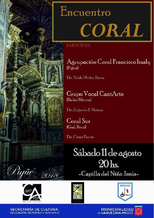 Importante encuentro de coros en la Capilla del Instituto Niño Jesus de Pigüé