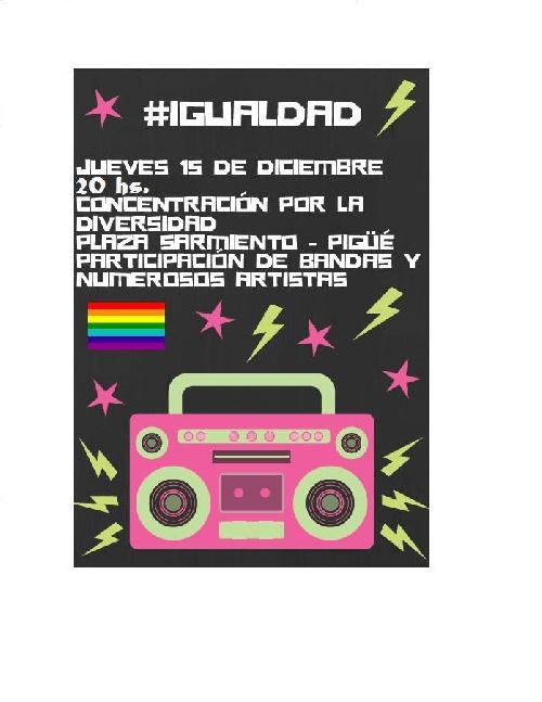 1º Marcha por la Igualdad y la Diversidad Sexual en Pigüé