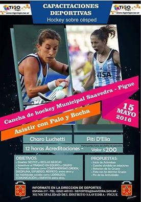 Hockey Femenino - Clínica de Hockey el próximo domingo en Pigüé