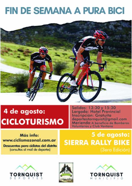 Sierra de la Ventana con finde de Cicloturismo y Sierra Rally Bike