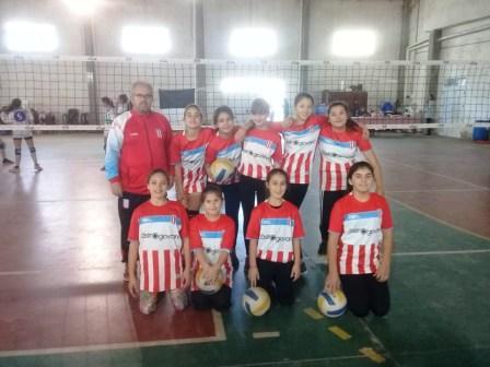 Voley - Las chicas Sub 13 de Unión Pigüé jugaron en Coronel Pringles.
