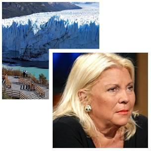 """Lilita Carrió: """" con la Ley de Glaciares no """""""