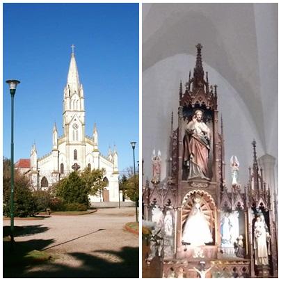 Parroquia Nuestra Señora de Luján de Pigüé: misa con el Arzobispo y nuevos Parroco y Vicario