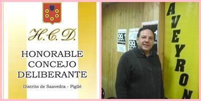 Pigüé: Luis M. Sevenié es concejal ( Pro ) por Cambiemos