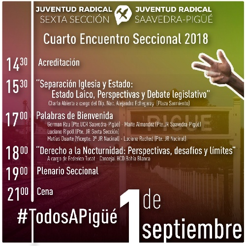 Encuentro seccional de la Juventud Radical en Pigüé