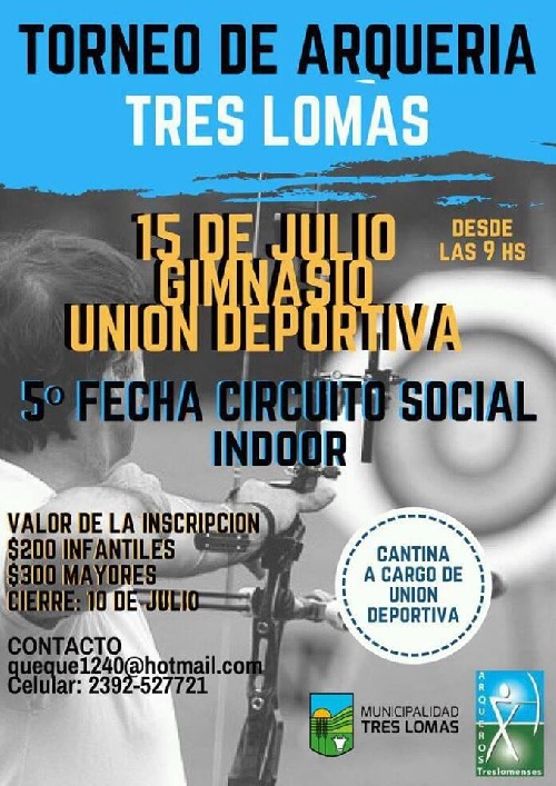 Arqueria: Tiro Federal Pigüé participará de torneo en Tres Lomas.