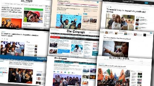 Los diarios del mundo sobre los comicios en Argentina: