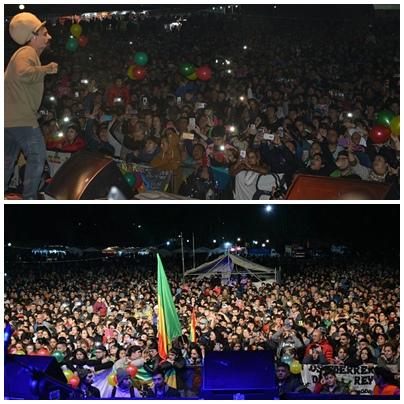 Dread Mar I  cantó con un lleno total en el primer dia de la Fiesta de la Primavera Pigüé 2017