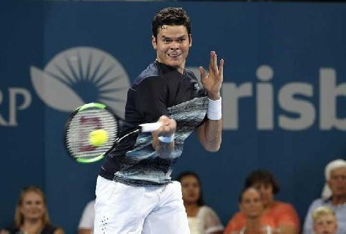 Milos Raonic dio cuenta de Rafael Nadal y avanza a semifinales del torneo de Brisbane.
