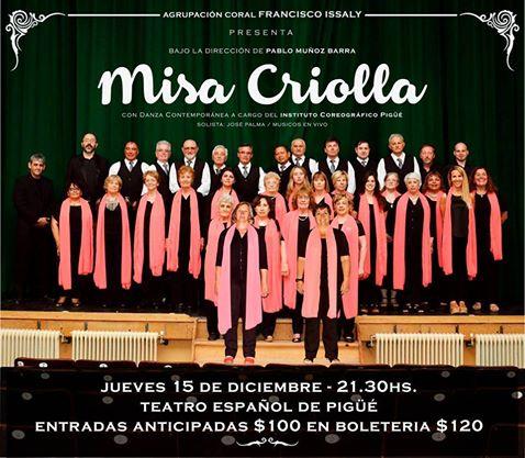 El Coro Francisco Issaly presenta La Misa Criolla