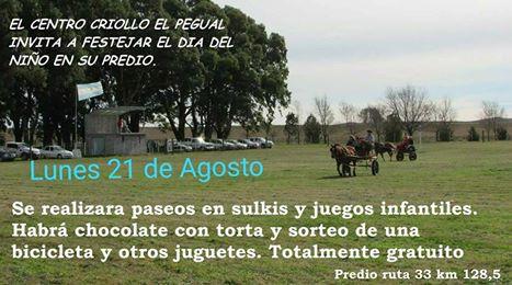 Dia del niño en el Centro Criollo El Pegual de Pigúé