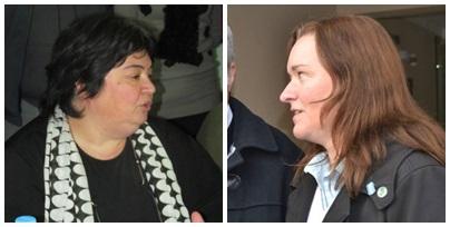 Reunión de candidatos del Frente Renovador : Marcela Guido, Virginia Apathie, Miguel Agüero y Carlos Dana