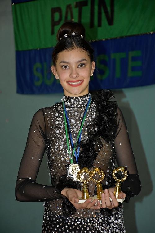 Destacada actuación de la joven Tiziana Lujan en el Torneo Regional de Patin de la Asociacion del Sudoeste