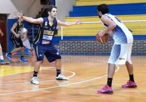 Basquet Bahiense - Estudiantes derrotó a Estrella . Martín Cleppe presente con 6 puntos.