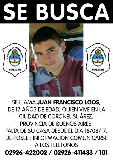 A diez dias de su desaparición sin novedades de Juan Francisco Loos
