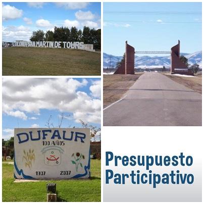 RESULTADOS DEL PRESUPUESTO PARTICIPATIVO EN DUFAUR, COLONIA SAN MARTÍN Y SAAVEDRA