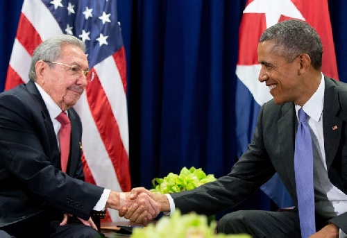 Encuentro histórico de Obama y Castro en las Naciones Unidas
