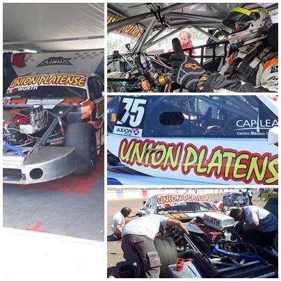 Sergio Alaux en los entrenamientos del  TC en el autódromo de Viedma