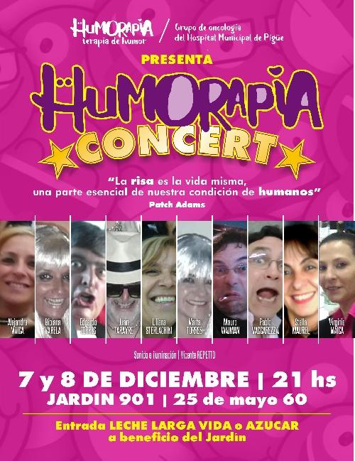 """Pigüé: pacientes oncológicos  presentan  """"Humorapia  Concert"""""""