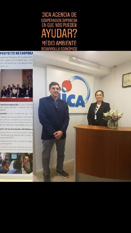Gustavo Notararigo en la Agencia de Cooperación Internacional Japonesa.