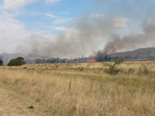 Nuevo foco de incendio en Tornquist - Sierra de la Ventana
