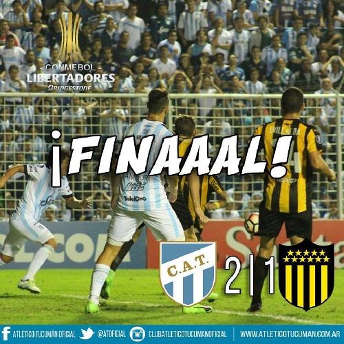 Copa Libertadores - Con un gol de Leandro González, Atlético logra un gran triunfo ante Peñarol de Uruguay.