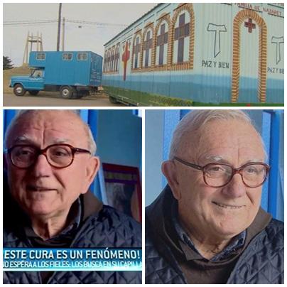 Pascual Di Saverio, el cura que desde Puan recorre los pueblos con su capilla móvil