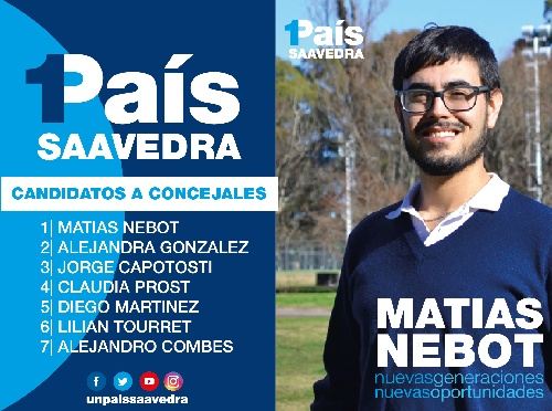 1PAIS con Matias Nebot  de la juventud GEN en primer término de la lista distrital