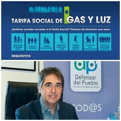 El Defensor del Pueblo Bonaerense exigió cambios en los requisitos para acceder a la tarifa social