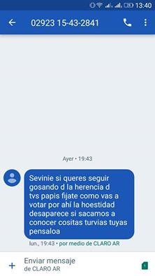 Mensajes anónimos con amenzas denuncio en la web el concejal Luis Sevenié