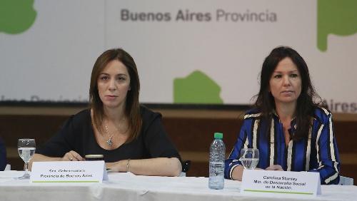 María Eugenia Vidal y el delicado frente social