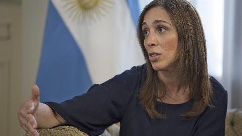 """María Eugenia Vidal: """"No nos apartaremos por las amenazas"""""""