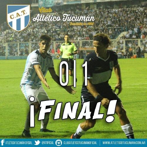 AFA - 1ra División - Gimnasia derrotó a Atlético en Tucumán que pierde posiciones. Leandro González ingresó en el 2°tiempo.