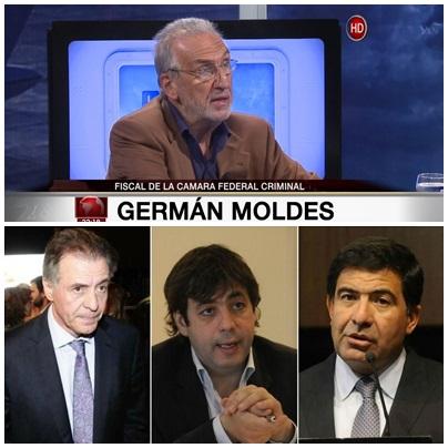 El Fiscal Germán Moldes pidió la detención de Echegaray, Cristóbal López y Fabián De Sousa al apelar el bochornoso fallo que los liberó